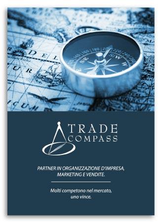 Realizzazione brochure per Trade Compass Società che eroga servizi alle Aziende