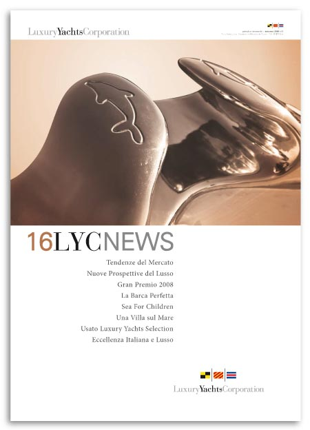Grafica LYC News 16 per Luxury Yacht Corporation