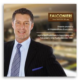 Progetto Grafico Brochure Franchising Per Falconieri L'Arte Pasticcera Dal 1989