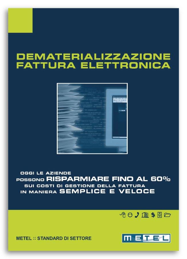 Realizzazione brochure Aziendale Metel, servizio Dematerializzazione Fattura Elettronica