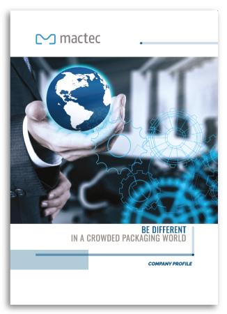 Progetto grafico Brochure Istituzionale per Mactec