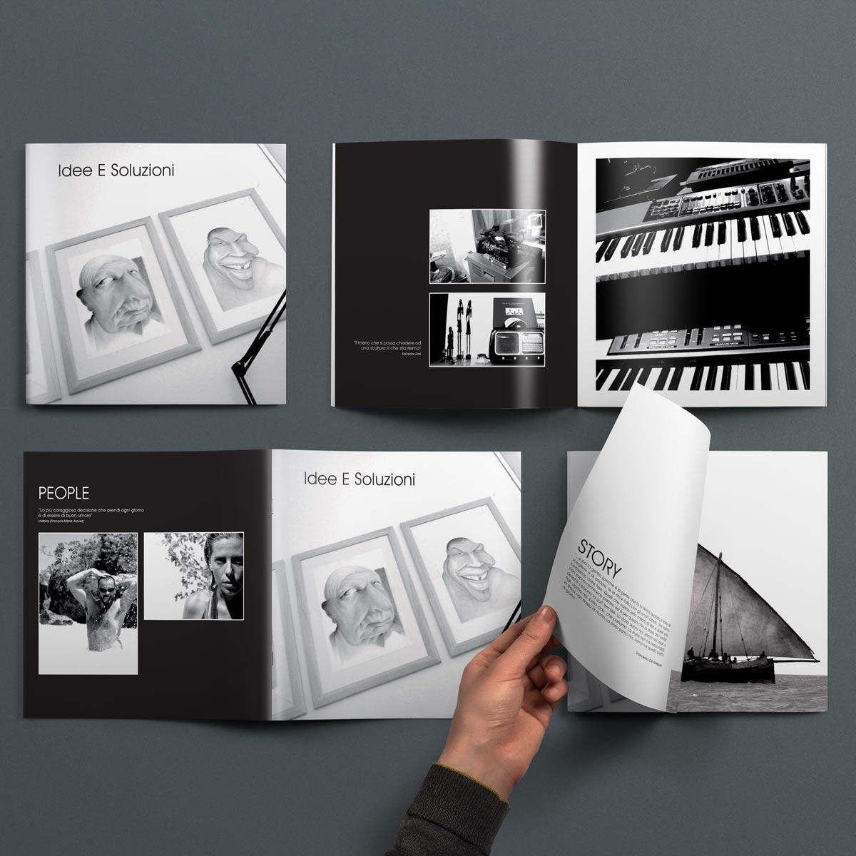 In Questa Immagine Il Mockup Della Brochure Realizzata Da Brochure Design Per Idee E Soluzioni Agenzia Marketing E Comunicazione
