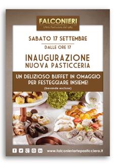 Flyer Promozionale Pasticceria Falconieri L'Arte Pasticciera Dal 1989