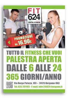 Volantino Promozionale Palestra FIT624 Bergamo