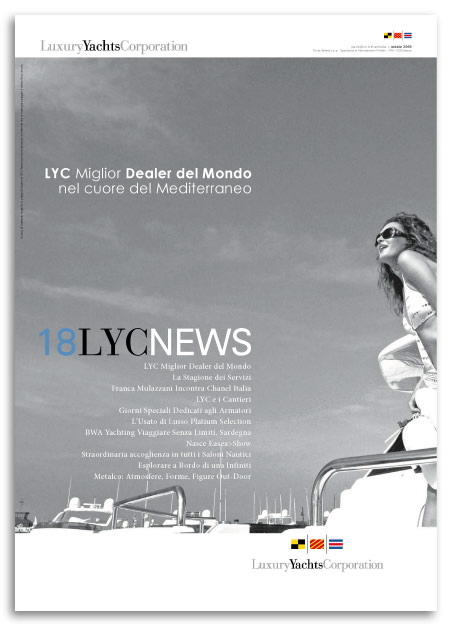 Progetto Grafico House Organ LYC News 18 Per Luxury Yacht Corporation