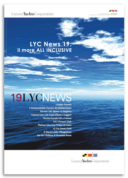 Progetto Grafico House Organ LYC News 19 Per Luxury Yacht Corporation