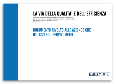 Brochure Design realizza il Catalogo Servizi Aziendali per Metel