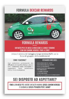 Sviluppo Progetto Grafico Flyer per Noleggio Auto Privati