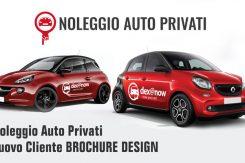Noleggio Auto Privati Nuovo Cliente Di Brochure Desing Per Sviluppo Grafica Flyer