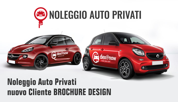 Noleggio Auto Privati Nuovo Cliente Brochure Design