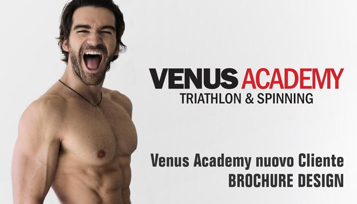 Venus Academy Nuovo Cliente Brochure Design Per Realizzazione Flyer