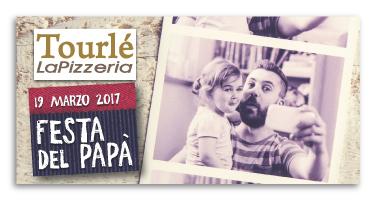 Grafica Flyer campagna Festa del Papà 2017 per Tourlé