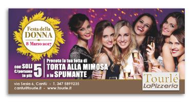 Grafica Flyer campagna Festa della donna 2017 per Tourlé