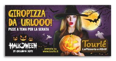 Grafica Flyer campagna Halloween 2017 per Tourlé