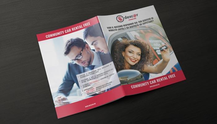 Brcohure Design realizza il progetto grafico della brochure Dexcar Rewards (3)