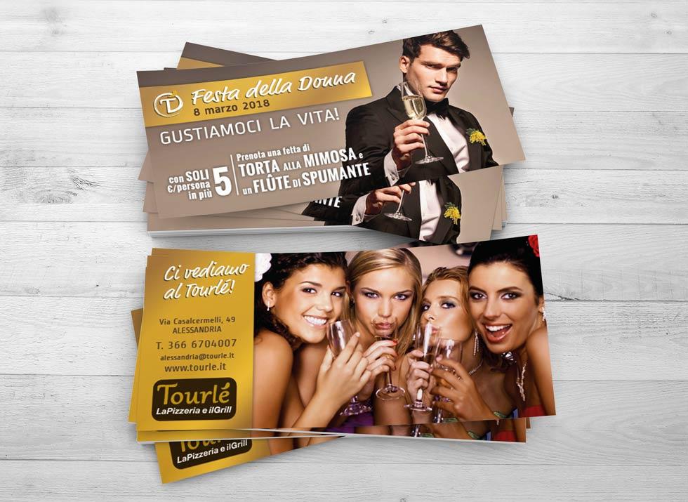 Brochure Design realizza il flyer speciale festa della donna 2018 per Tourlé LaPizzeria e ilGrill (2)