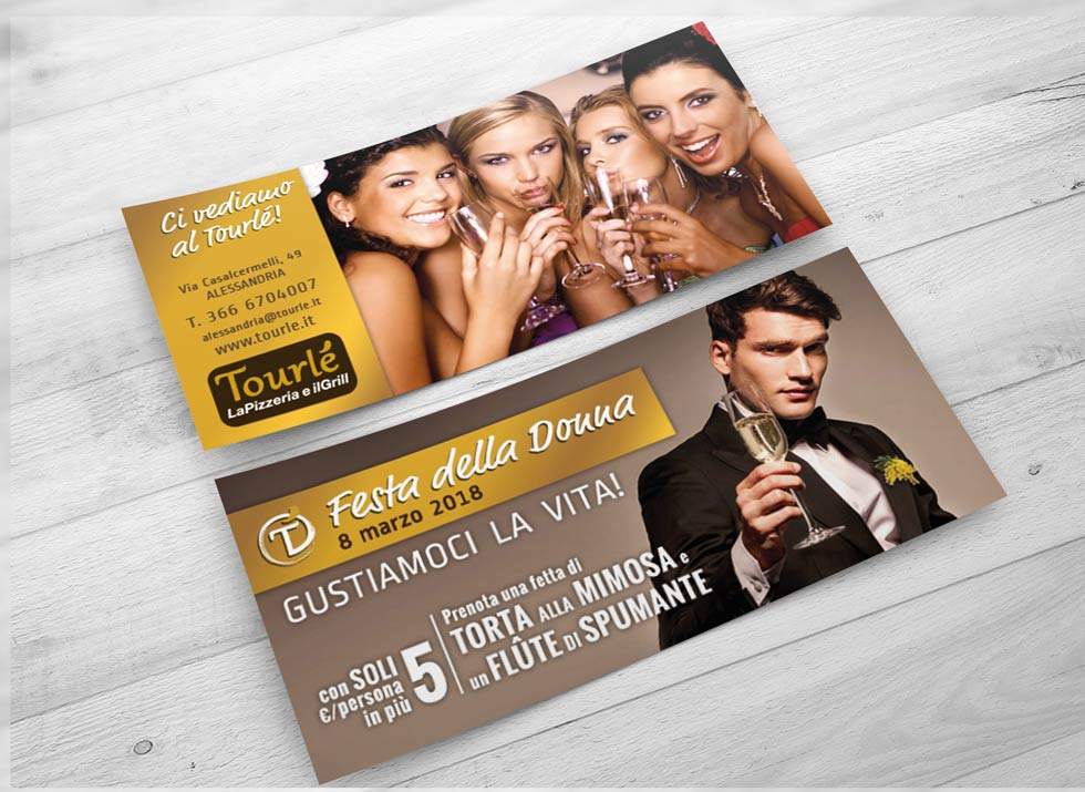 Brochure Design realizza il flyer speciale festa della donna 2018 per Tourlé LaPizzeria e ilGrill (4)