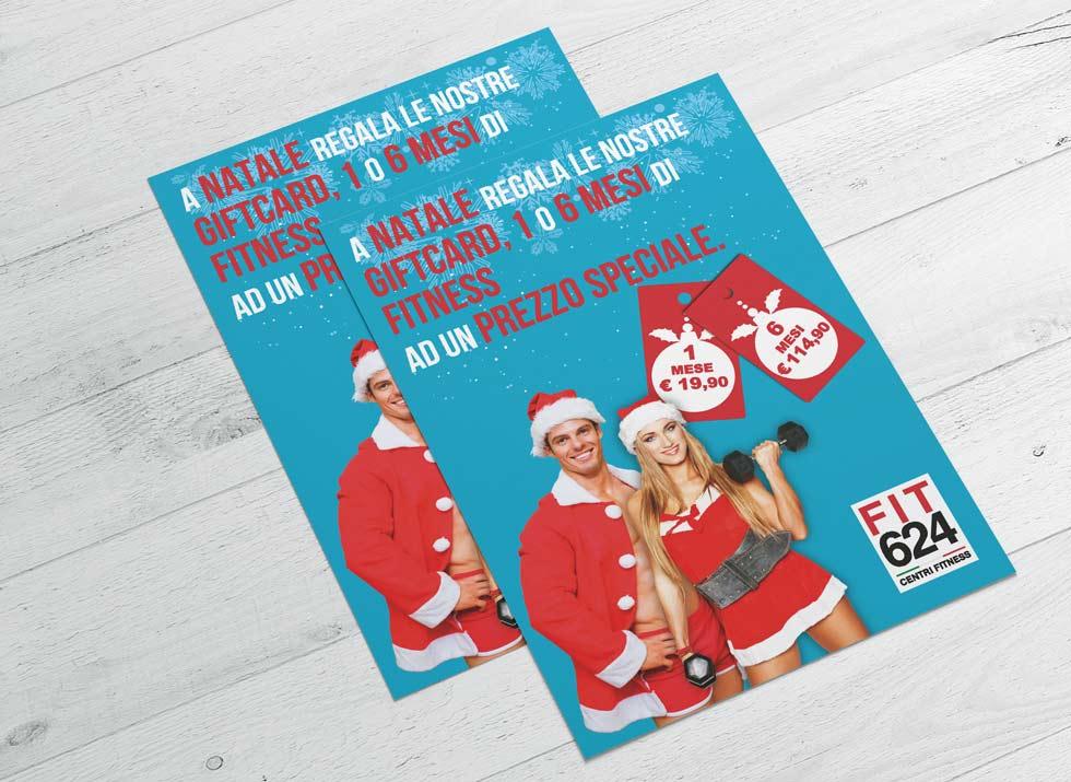 Brochure Design realizza il flyer speciale promo Natale per la palestra FIT624 Bergamo (1)