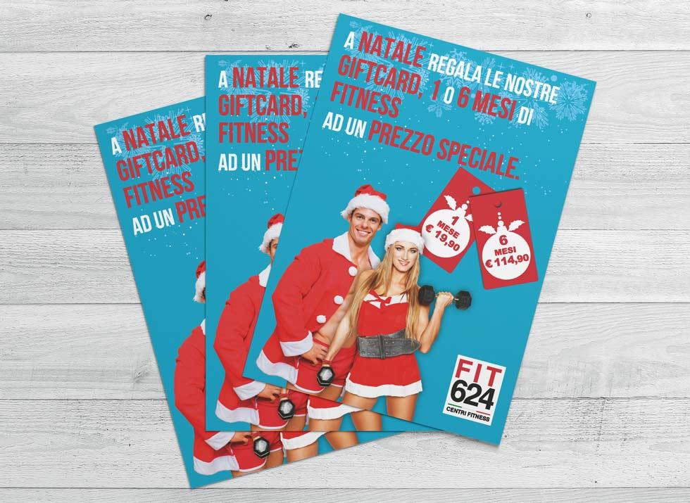 Brochure Design realizza il flyer speciale promo Natale per la palestra FIT624 Bergamo (2)