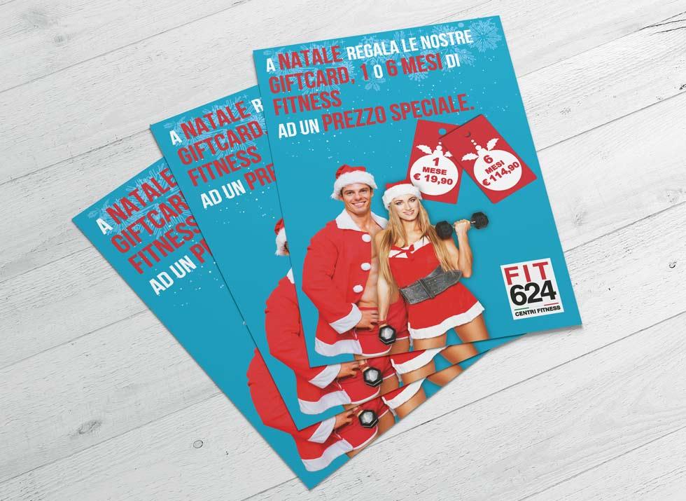 Brochure Design realizza il flyer speciale promo Natale per la palestra FIT624 Bergamo (3)