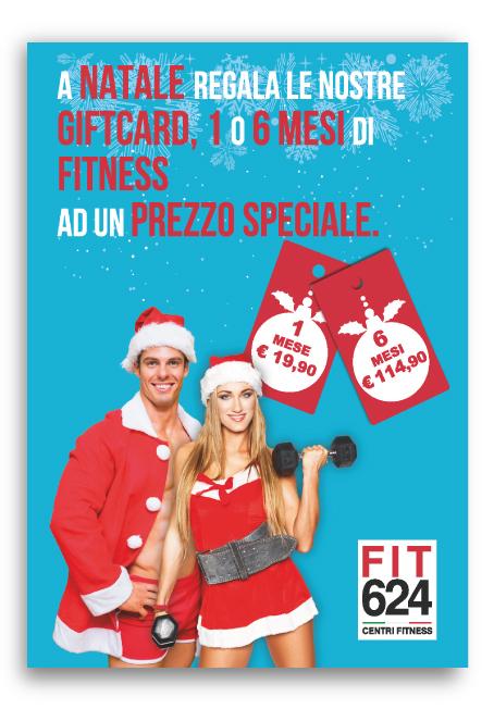 Volantino Promozionale Speciale Promo Natale Palestra FIT624 Bergamo