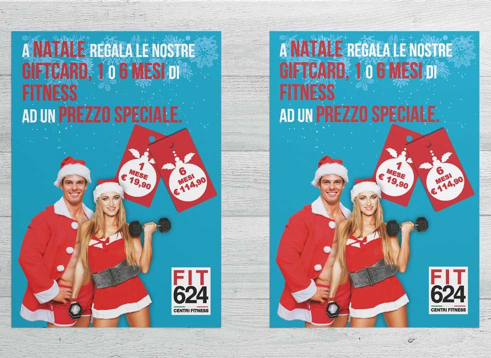 Brochure Design realizza il flyer speciale promo Natale per la palestra FIT624 Bergamo (7)