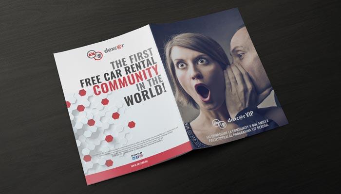 Brochure Design realizza la grafica brochure formula vip per Dexcar (3)