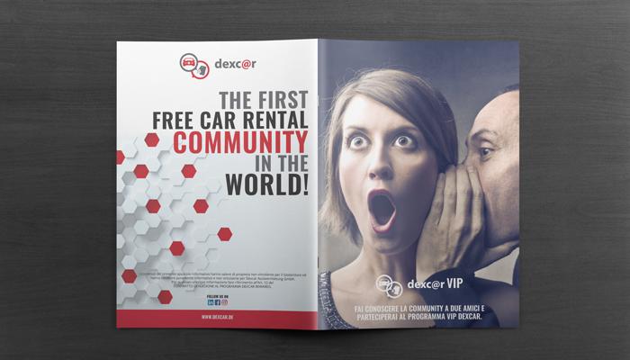 Brochure Design realizza la grafica brochure formula vip per Dexcar (8)