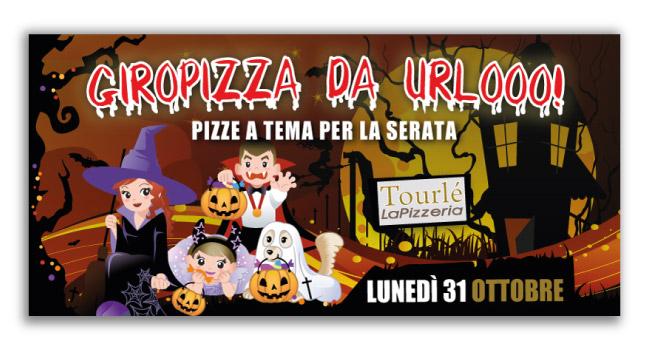 Grafica Flyer campagna Halloween 2016 per Tourlé