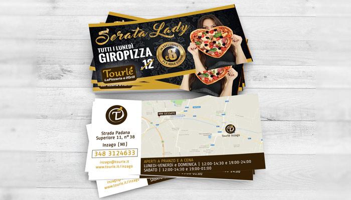 Brochure Desing ha realizzato la grafica flyer per la serata lady di Tourlé LaPizzeria e ilGrill Inzago (2)