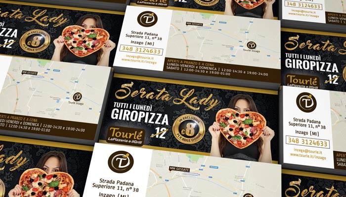 Brochure Desing ha realizzato la grafica flyer per la serata lady di Tourlé LaPizzeria e ilGrill Inzago (3)