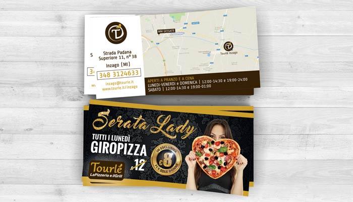 Brochure Desing ha realizzato la grafica flyer per la serata lady di Tourlé LaPizzeria e ilGrill Inzago (4)
