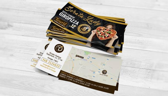 Brochure Desing ha realizzato la grafica flyer per la serata lady di Tourlé LaPizzeria e ilGrill Inzago (5)