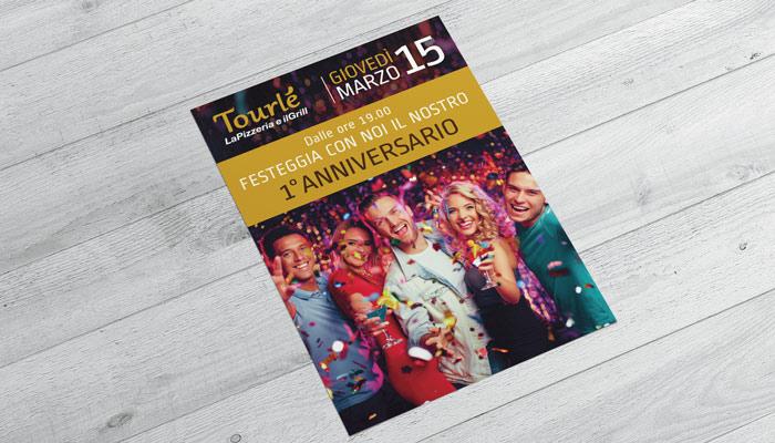 Brochure Desing realizza il flyer per lo speciale anniversario di Tourle Buccinasco (3)