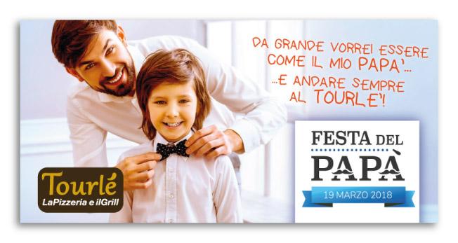 Grafica Flyer campagna Festa del Papà 2018 per Tourlé