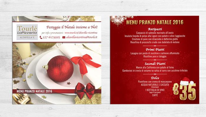 Grafica Flyer campagna Natale 2016 per Tourlé