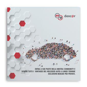 Sviluppo grafica Brochure Dexcar Now
